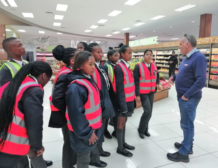 Uncle Larry explaining how products get from the DC to SPAR shelves