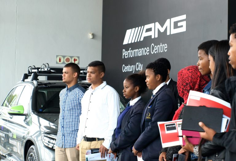Learners on the squeaky clean AMG sales floor
